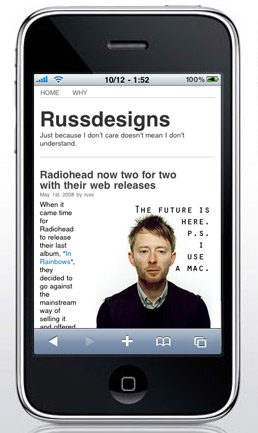 Russdesigns has gone mobile