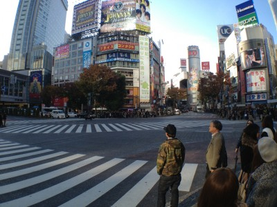 The famous Shibuya Scramble